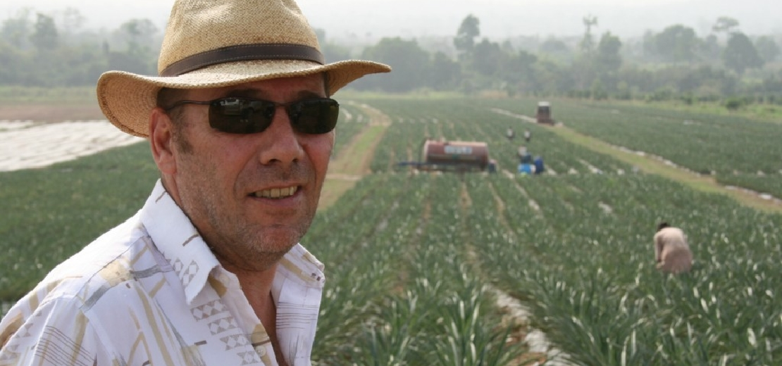 Helmut Lutz is the pineapple king of Ghana